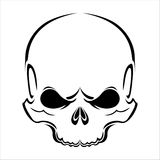 Skull silhouette Royalty Free Stock Images