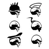 Skull Silhouette Set Stock Images