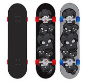 Skull skateboard design Royalty Free Stock Image