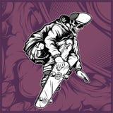Skull skateboard hand drawing vector. Hand drawing,Shirt designs, biker, disk jockey, gentleman, barber and many others vector illustration