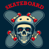 Skull of skater Royalty Free Stock Photography