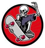 Skull skater Royalty Free Stock Image