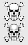 Skull with skeleton bones piratic symbol Royalty Free Stock Photos