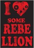 Skull Slogan Rebellion - Vector artwork for boy sportswear Royalty Free Stock Photography