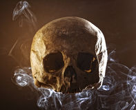 Skull in the smoke Stock Image