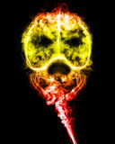 Skull of smoke. On a black background Royalty Free Stock Image