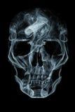 Skull of smoke. Human skull made of smoke Royalty Free Stock Images