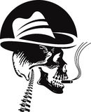 Skull smoking Royalty Free Stock Photography