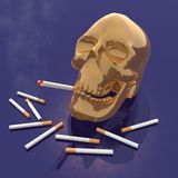 Skull smoking Royalty Free Stock Photo