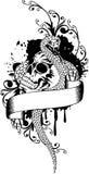Skull and snake Royalty Free Stock Photo
