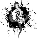 Skull and snake Royalty Free Stock Image