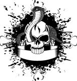 Skull and snake. Vector illustration skull and snake Royalty Free Stock Photo