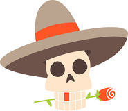 Skull With Sombrero Stock Photo