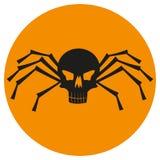 Skull with spider legs. vector illustration