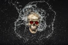 Skull Splash Royalty Free Stock Images