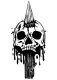 Skull with stake Stock Images