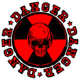 Skull stamp radioactivity danger Royalty Free Stock Image