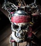 Skull steel chain. Stock Images