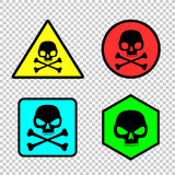 Skull sticker icon set Royalty Free Stock Photo