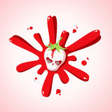 Skull strawberries Royalty Free Stock Photography