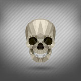 Skull in the style of origami. Abstract triangle polygonal skull of origami Royalty Free Stock Image