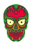 Skull 1.8. Sugar skull day of the dead illustrations design Royalty Free Stock Photos