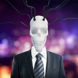 Skull in suit with wires Stock Images