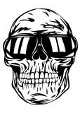 Skull in sunglasses Royalty Free Stock Images