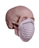 Skull with surgical mask Stock Photography