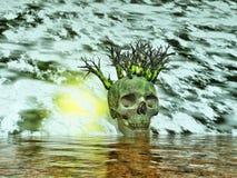 Skull - surreal landscape Royalty Free Stock Photo