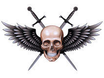 The skull with swords Stock Photo