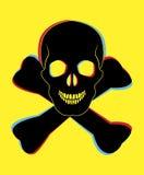 Skull symbol. Stock Images