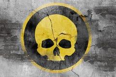 Skull symbol on wall Royalty Free Stock Photography
