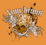 Skull T-Shirt Design Royalty Free Stock Images