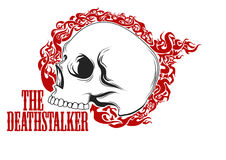 Skull T-Shirt design Royalty Free Stock Image