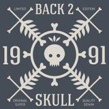 Skull t-shirt design. Original tee print. Vector graphics Stock Image