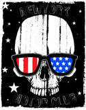 Skull T shirt Graphic Design Stock Photo