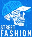 Skull T shirt Graphic Design. Fashion style Stock Photos