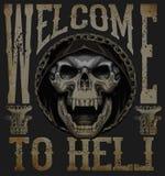 Skull T shirt Graphic Design Royalty Free Stock Image
