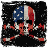 Skull T shirt Graphic Design with flag Stock Photography