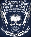 Skull T shirt Graphic Design Motor Club Royalty Free Stock Photo