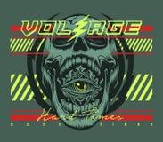 Skull t shirt print design vector illustration