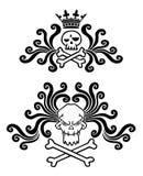 Skull tattoo. Skull smiles. Black tattoo. Gothic style. Vector illustration Stock Photo