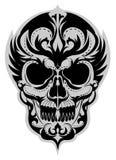 Skull_tattoo_art illustration de vecteur