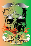 Skull and tattoo art Royalty Free Stock Images