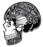 Skull.Tattoo design Royalty Free Stock Image