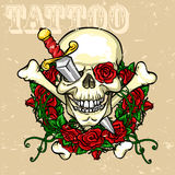 Skull Tattoo Design Stock Photos
