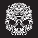 Skull tattoo in the style of Maori with marine life. Sea creatures Royalty Free Stock Photos