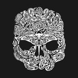 Skull tattoo in the style of Maori with marine life. Sea creatures Royalty Free Stock Images