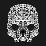 Skull tattoo in the style of Maori with marine life. Sea creatures. Skull  tattoo in the style of Maori with marine life. Sea creatures Royalty Free Stock Photos
